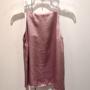 Tops - Shiny Taupe Square Neck Top